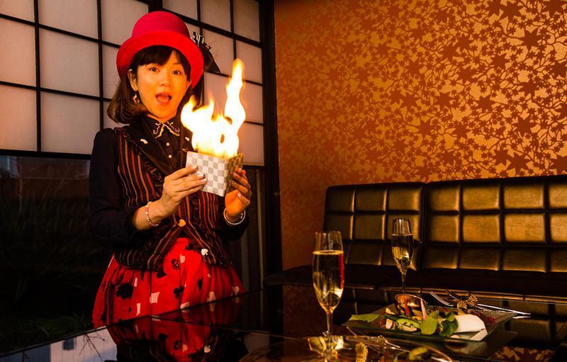 財布ファイヤー!!突然の炎の勢いにビックリ。