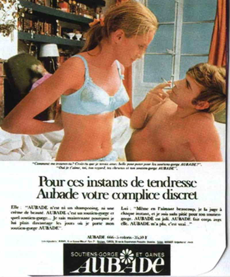 今見ても、そのストレートな表現がスキャンダラスに感じる1968年の広告ビジュアル。