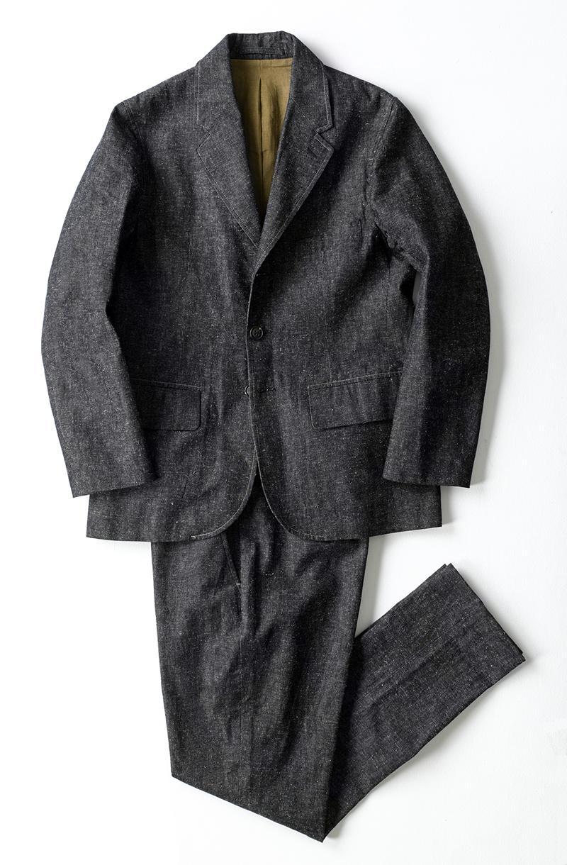 デニム素材を使用したセットアップスーツ/ナイジェル・ケーボン