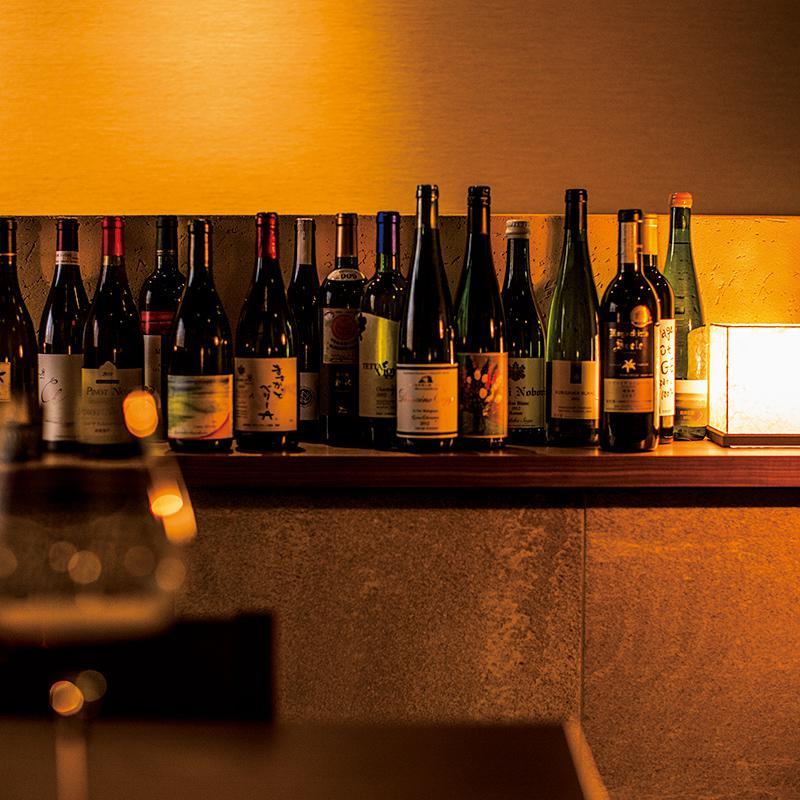 日本ワインが勢揃い