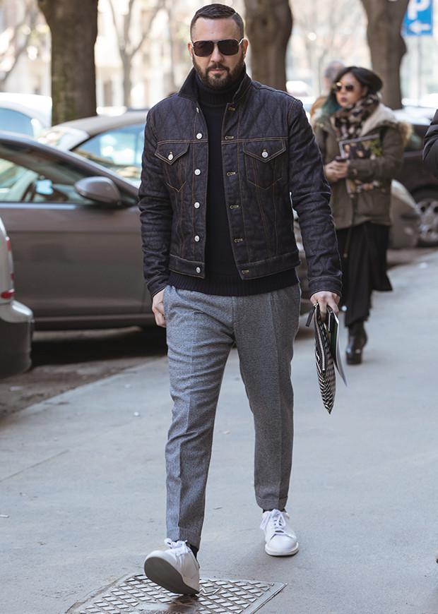 ジージャンをジャケット代わりに | ファッションスナップ ...
