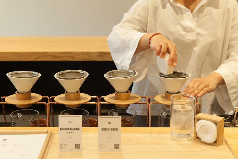 東京茶寮 / LUCY ALTER DESIGNが独自に開発&デザインした日本茶専用ドリッパー。