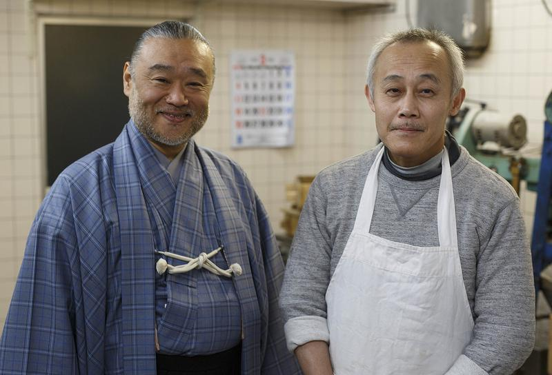 5代目ご主人と友吉鶴心さん。