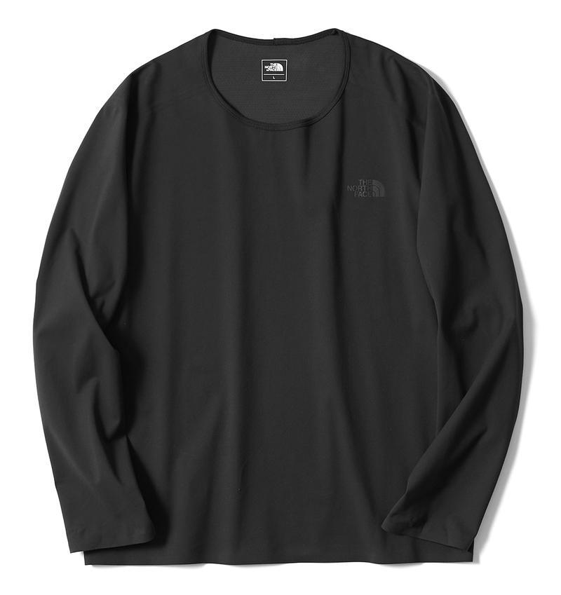 ブラックテックラウンジロングスリーブTシャツ6300円/ザ・ノース・フェース(ザ・ノース・フェイス原宿店)