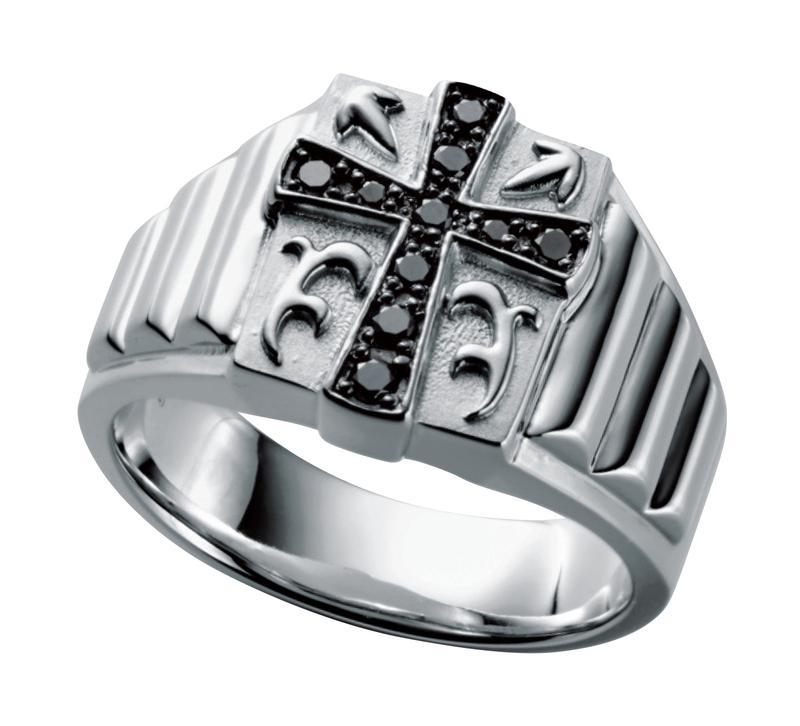 [Pt900×ブラックダイヤモンド]40万7408円/ギンザタナカ