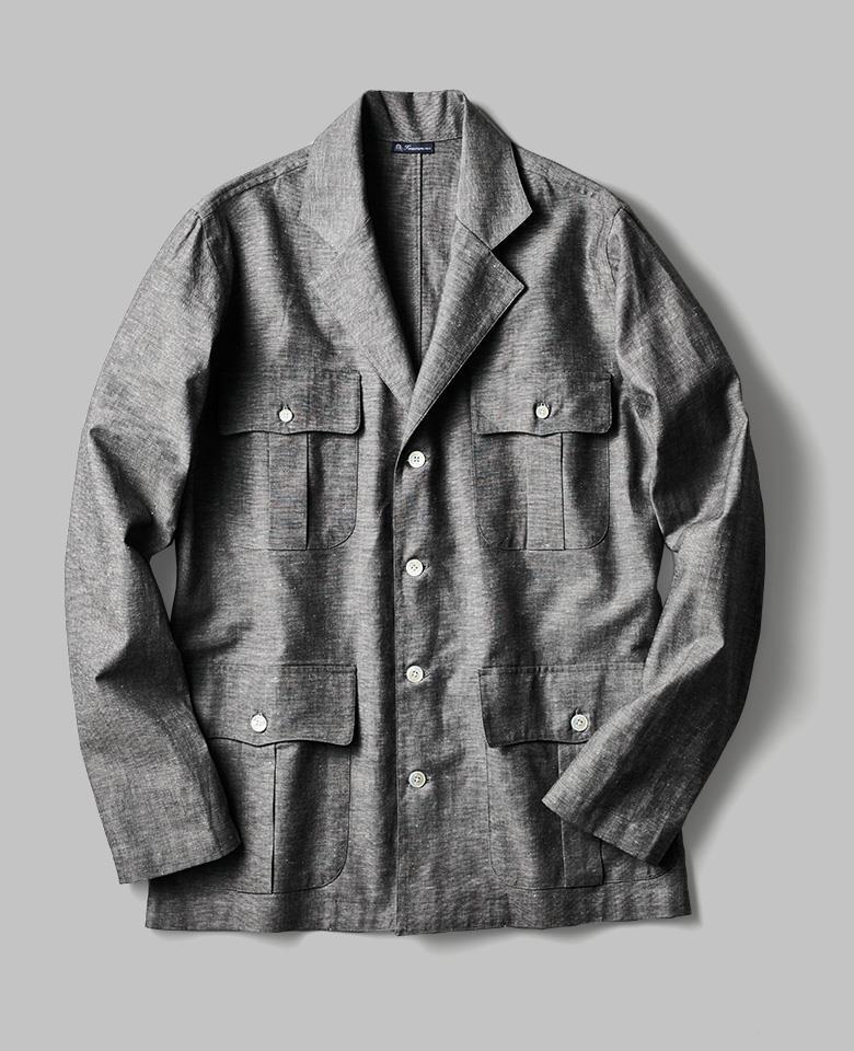 「アスティーレ ハウス×フィナモレ」のサファリシャツ/4万6000円