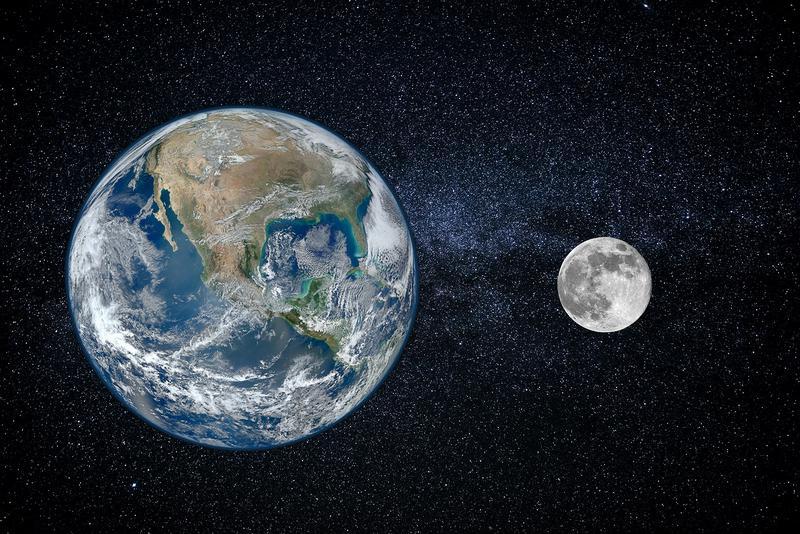 月と地球の比較