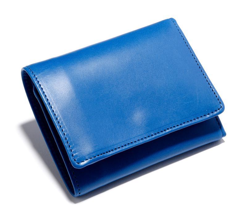 ブルー三つ折りウォレット3万3000円/グレンロイヤル(ブリティッシュ メイド 銀座店)