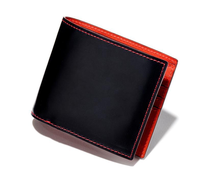 ネイビー/レッド二つ折りウォレット4万円/ブルックリン(ブルックリン ミュージアム 青山本店)
